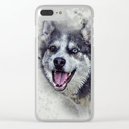 Beautiful husky Clear iPhone Case