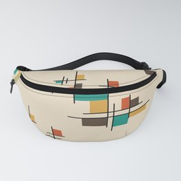Mid Century Modern Geometric Colorful Fanny Pack