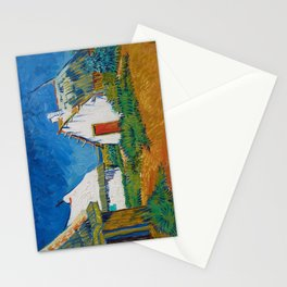 Three White Cottages in Saintes-Maries by Vincent van Gogh Stationery Cards