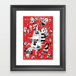 rot zeichentusche  Framed Art Print