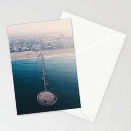 From Above   Venice Beach pier, California Stationery Cards