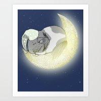 Good Night Little Pinto Art Print