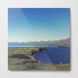 She felt tiny in Lake Tekapo Metal Print