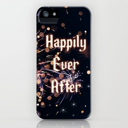Happily Ever After Fireworks Photo iPhone Case
