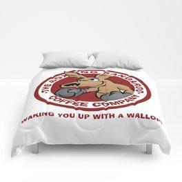 Boxing Kangaroo Coffee Company Comforters