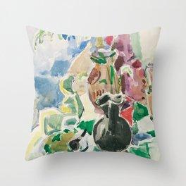 Oskar Moll Stilleben mit Matisse Pla Throw Pillow