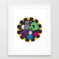 poker Framed Art Prints featuring poker by justine
