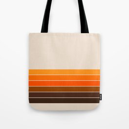 Golden Spring Stripes Tote Bag
