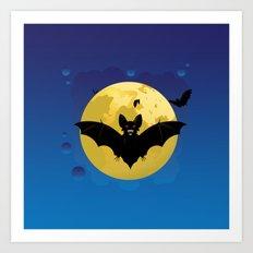 Halloween bats Art Print