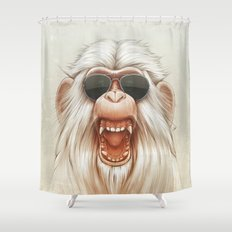 The Great White Angry Monkey Shower Curtain