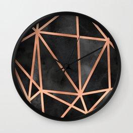 Black & Copper Geo Wall Clock