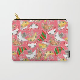 """""""Oro?"""" Christmas PINK Carry-All Pouch"""