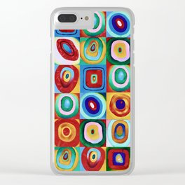 Colorful circles tile Clear iPhone Case