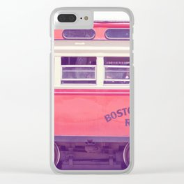 Orange Streetcar Clear iPhone Case