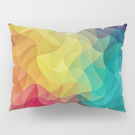 Abstract Color Wave Flash Pillow Sham
