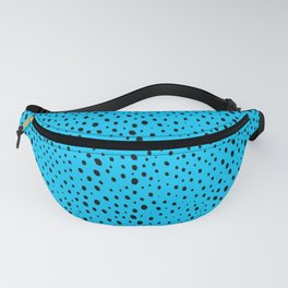 Blue Cheetah Pattern Fanny Pack