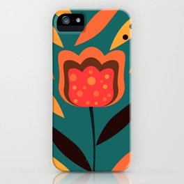 Flower in petal rain iPhone Case