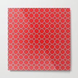 Red Clover Pattern Metal Print
