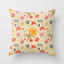 WEIRD FLOWERS Throw Pillow