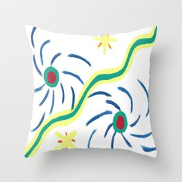 Suns and Hurricanes Throw Pillow