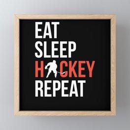 Hockey Hobby Framed Mini Art Print
