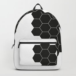 Hex•a•gon white Backpack
