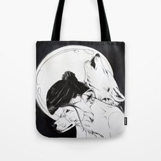 Wolf Familiar (werewolf) Tote Bag