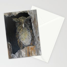 Buffy Fish Owl Stationery Cards