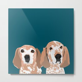 Molly and  Elwood Metal Print