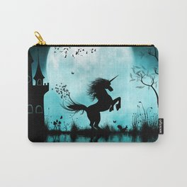 Wonderful unicorn silhouette in the night Carry-All Pouch