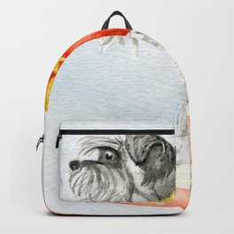 Starry Scruffy Schnauzer Backpack