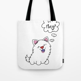 Samoyed dog Puppy Doggie Gift Present Dow-Owner Tote Bag