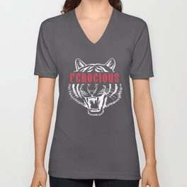 Ferocious Tiger Unisex V-Neck