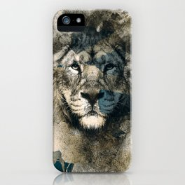 LION CAMOUFLAGE iPhone Case