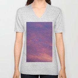 Peach & Violet Blaze Unisex V-Neck
