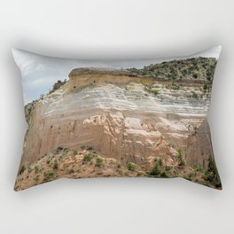 """Mesas of New Mexico in """"Dreamcicle"""" Color Rectangular Pillow"""