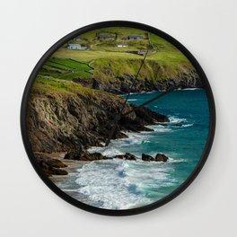 Ireland - Dingle peninsula - juicy green & clear blue Wall Clock