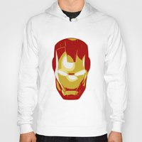 ironman Hoodies featuring Ironman by Adel