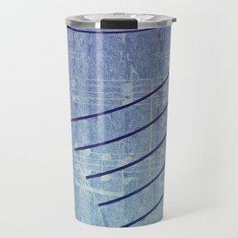 Aqua Purple Ombre Music Notes Travel Mug