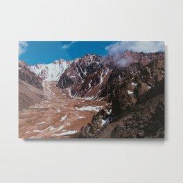 Trekking peaks. Metal Print