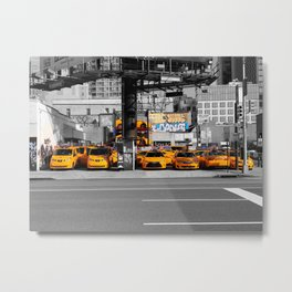 Taxi! - NYC series VI. -  Metal Print