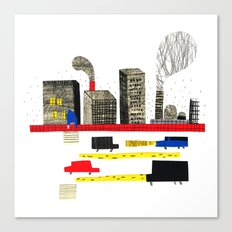 Small City Stories II Canvas Print