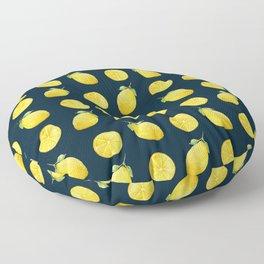 Watercolor Lemon Pattern Floor Pillow