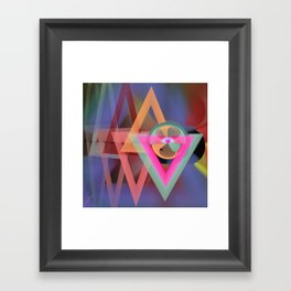 Colourful modern geometric abstract Framed Art Print