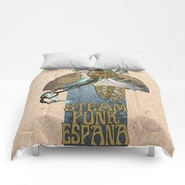 Steampunk Spain Comforters
