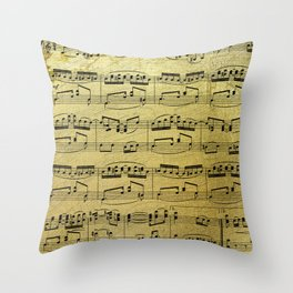 Notes on Gold One Solace Throw Pillow