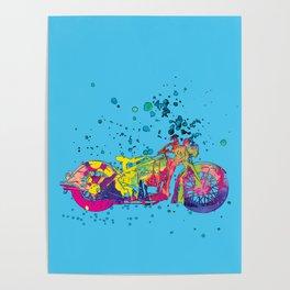 ap127-10 Motorcycle Poster