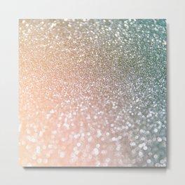 Rosequartz Rose Gold glitter - Pink luxury glitter sparkling design Metal Print