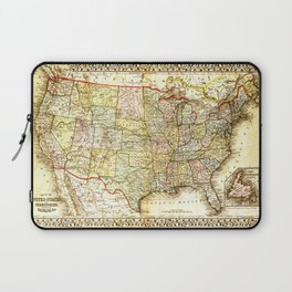 1867 USA Map Laptop Sleeve