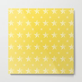Stella Polaris Golden Yellow Design Metal Print